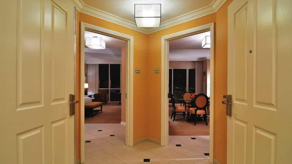 Entry to Two Bedroom Suite to Bedroom or Dining Room