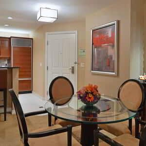 Signature Two Bedroom Suite Dining Area & Kitchen