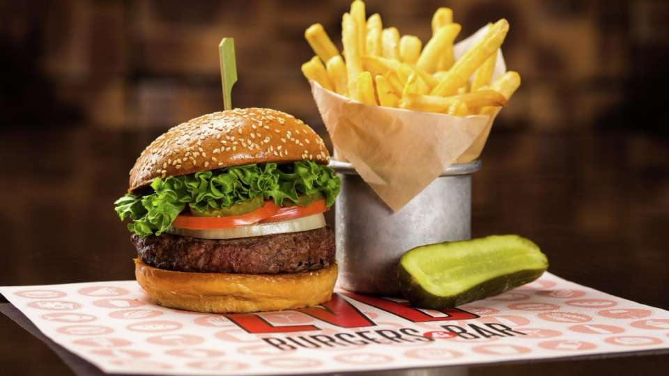 LVB Burgers and Bar features a mouthwatering selection of gourmet burgers, salads and shakes.