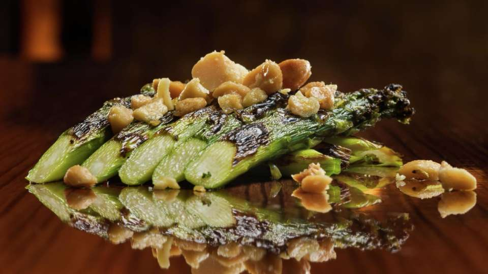 Asparagus at OTORO Robata Grill and Sushi only at The Mirage.