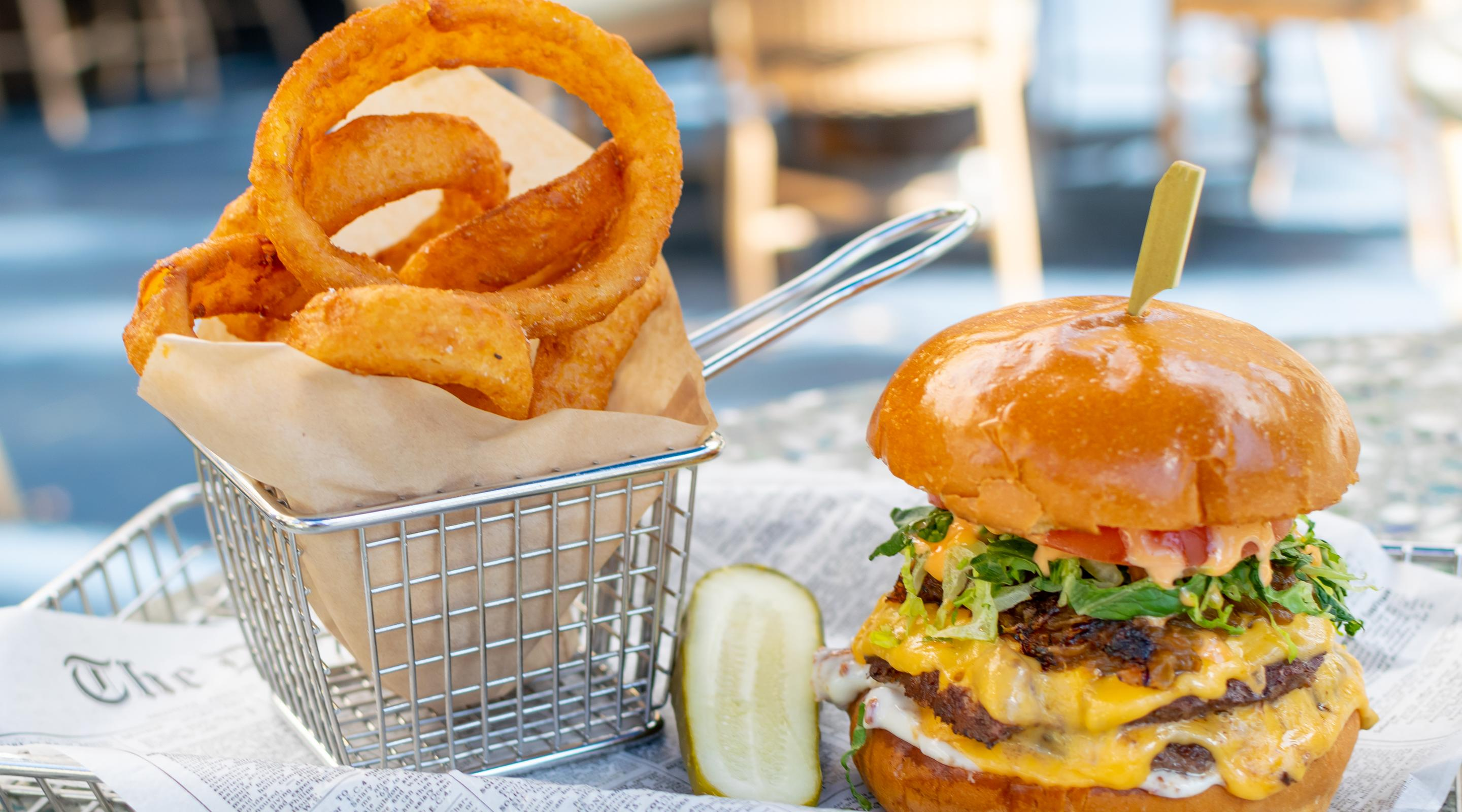 Enjoy a Paradise Burger as you slip away from the norm and enjoy the beautiful surroundings of Paradise Café.