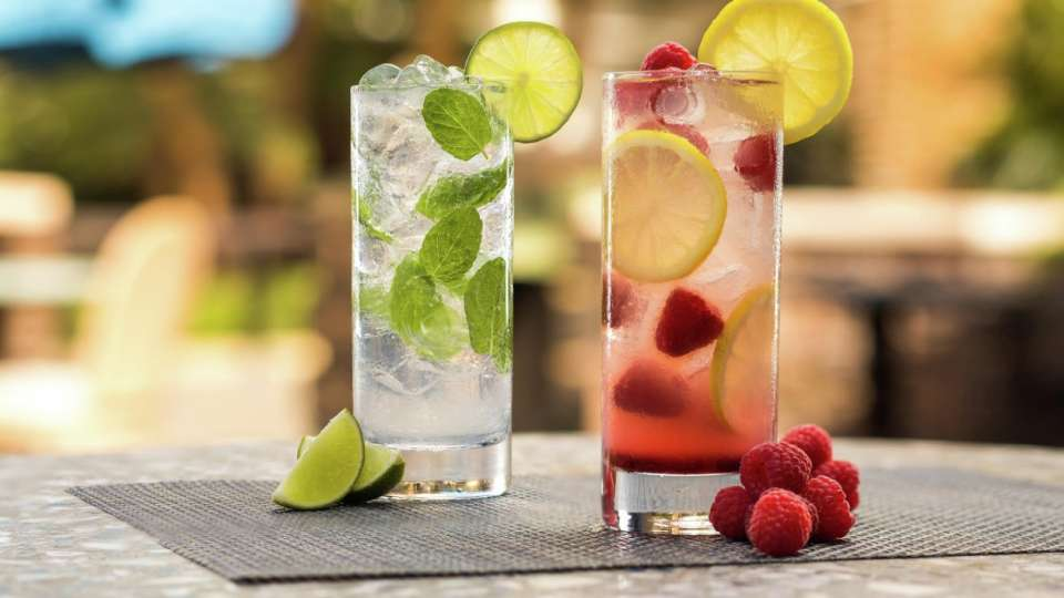 Enjoy the serene sounds of the waterfall over a refreshing Mojito or Raspberry Lemonade. These drinks will surely excite your taste buds.