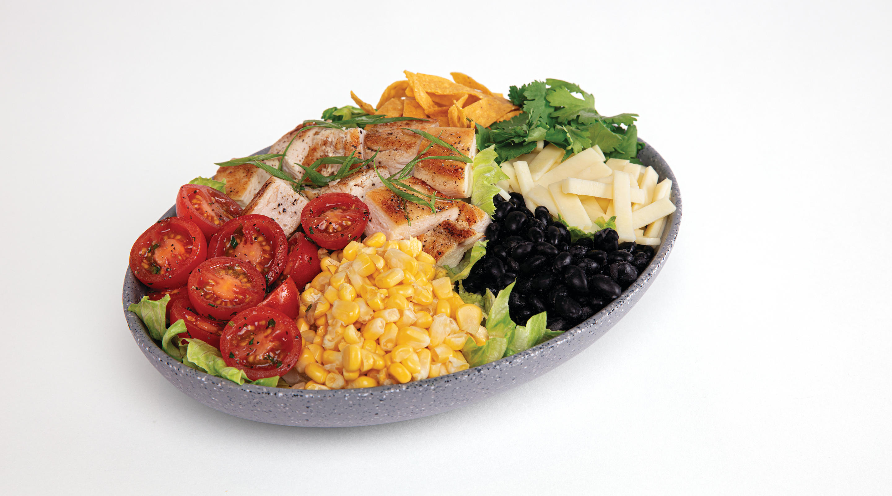 Southwest BBQ salad is one of many options at Snacks.