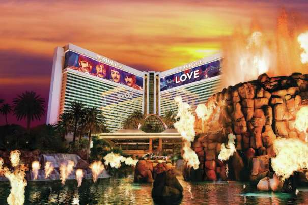 The Mirage stands above, but at the center, of all other Las Vegas hotels.