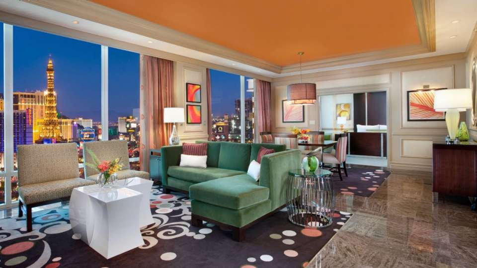 The Mirage Penthouse Suite with an amazing view
