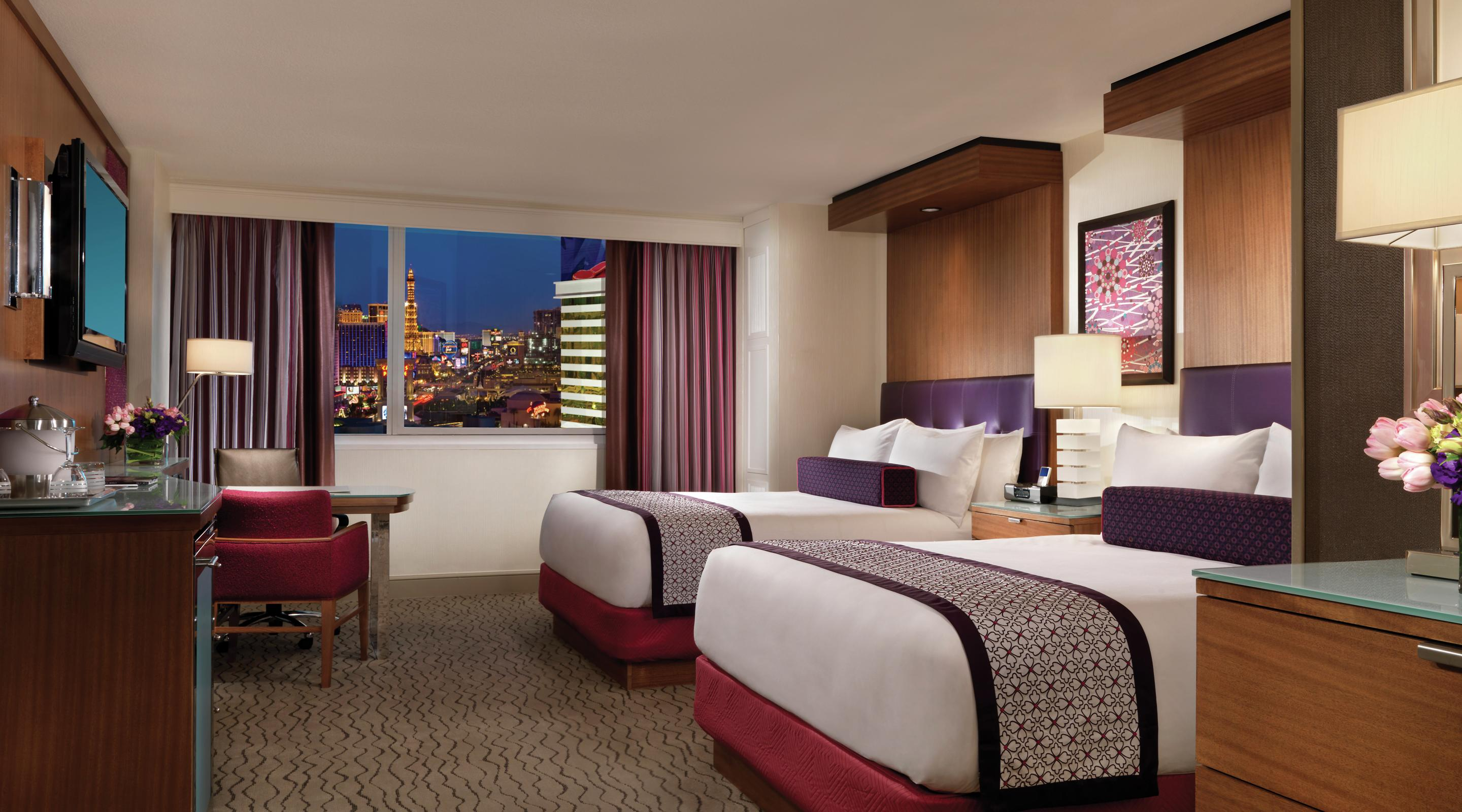 The Mirage Resort or Tower Queen Strip View room.