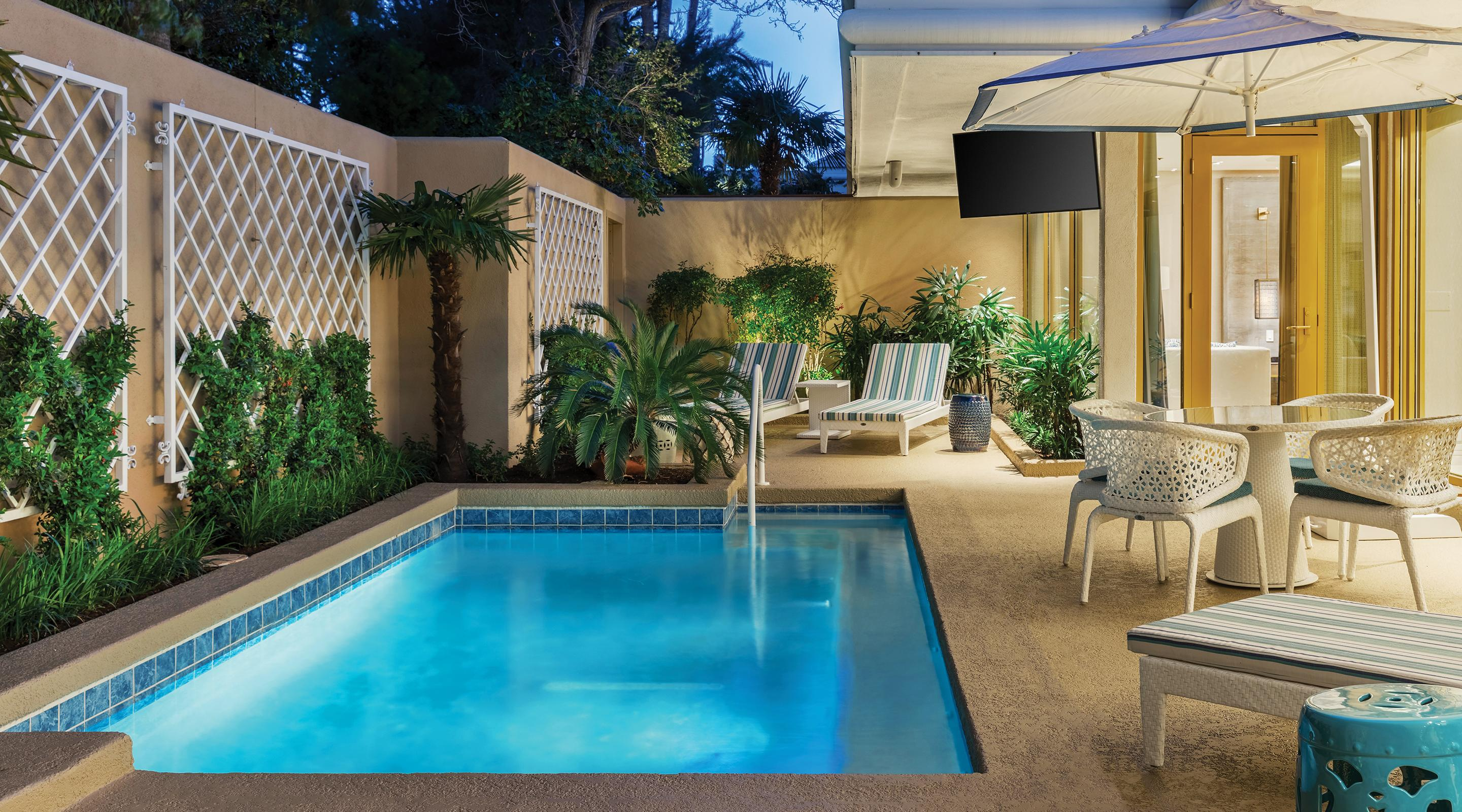 A pool in two bedroom Lanai suite.