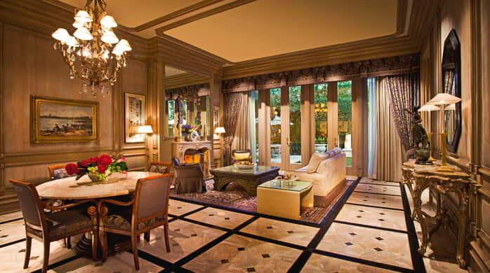 The Villas Living Room and Dining Area at The Mirage