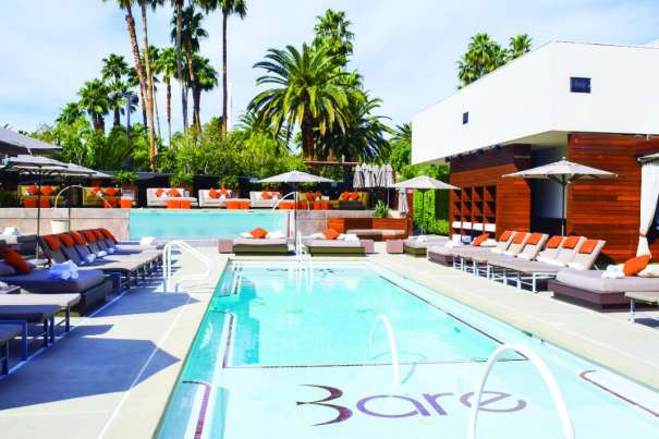 Go on a poolside escapade in the intimate surroundings of BARE Pool Lounge