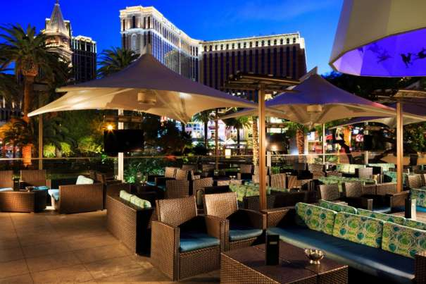 Image of the Rhumbar outdoor patio area at The Mirage.