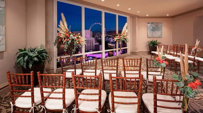 Mirage Weddings SkyView Venue with chairs