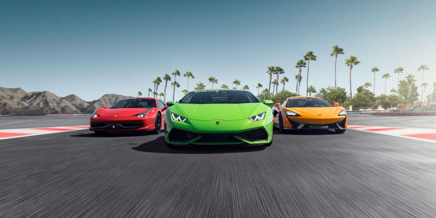 Drive the supercar of your dreams on our racetrack in Las Vegas!