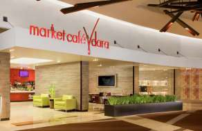 Market Café Vdara features classic American dishes. This modern café features a menu of freshly prepared breakfast (available all day), lunch and dinner options. Enjoy our full service dining menu daily from 6:00 a.m. – 2:00 p.m. Or, if you're on the go, drop by this cozy eatery for a quick bite, sweet treats, gourmet groceries and a variety of healthy snacks.