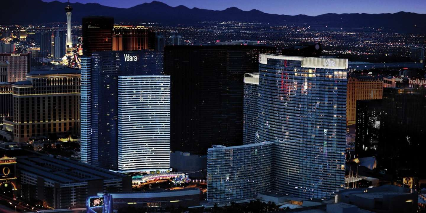 Vdara Hotel & Spa is an all-suite, non-gaming, smoke-free, eco-friendly,  boutique retreat conveniently located between ARIA Resort & Casino® and Bellagio® on the Las Vegas Strip.