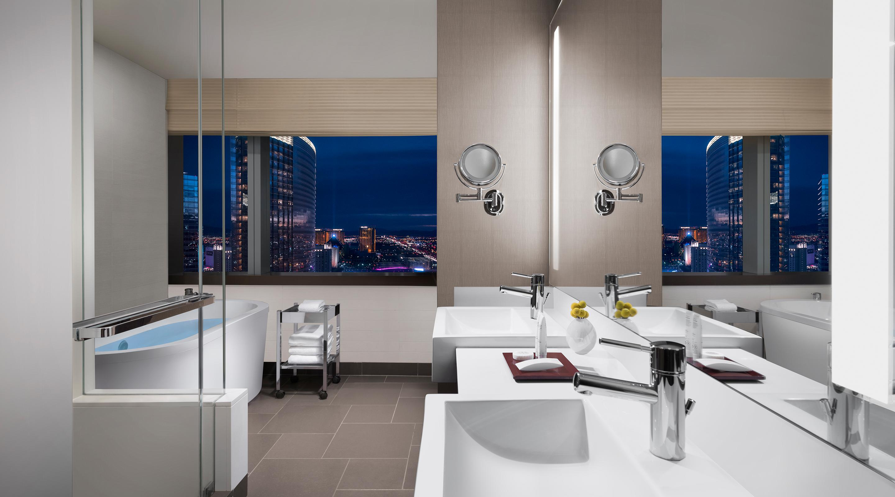 Enjoy the views from your spa-style soaking tub.