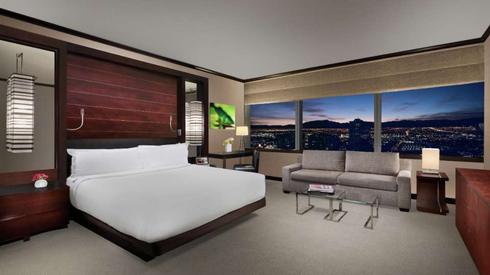 Vdara's base suite is anything but ordinary. With 582 square feet of luxury including a kitchenette, you have never experienced a