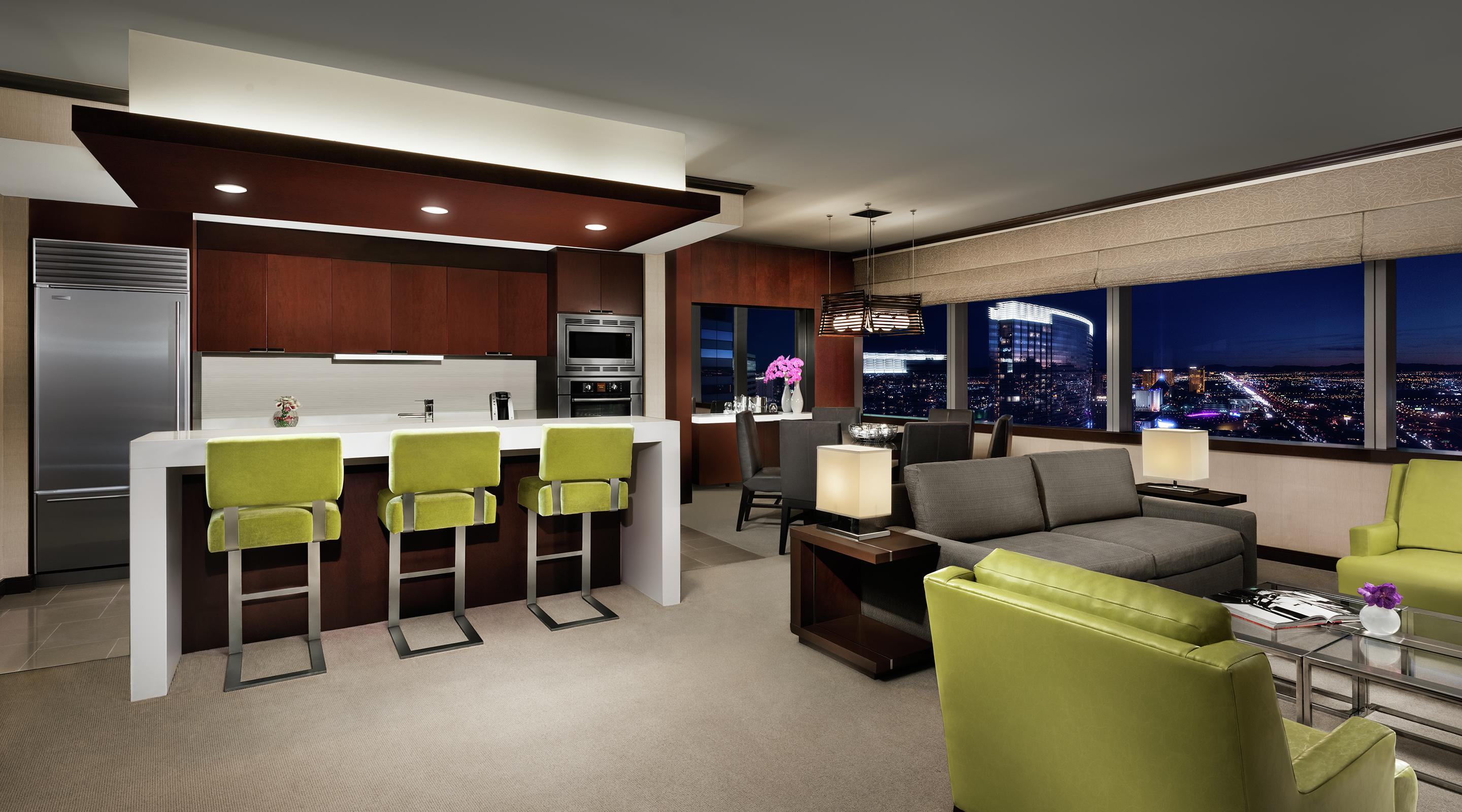 Whether you are entertaining for business or pleasure, our Two Bedroom Hospitality Suites provides the space and amenities necessary to ensure both you and your guests enjoy every second.