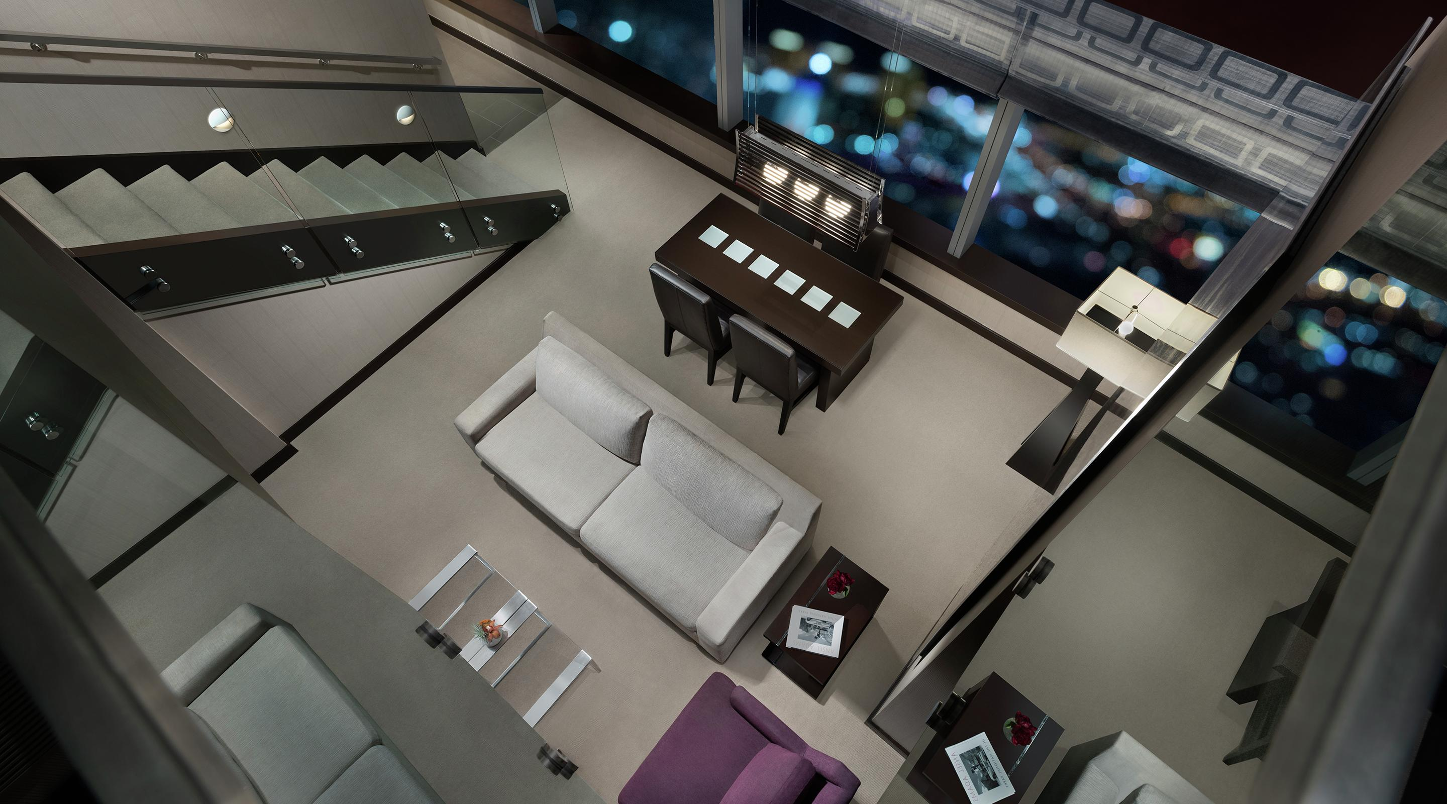 Whether you want to entertain, bring a group of friends or enjoy the ultimate Vdara experience the Two Bedroom Loft provides the best in design, amenities and comfort.