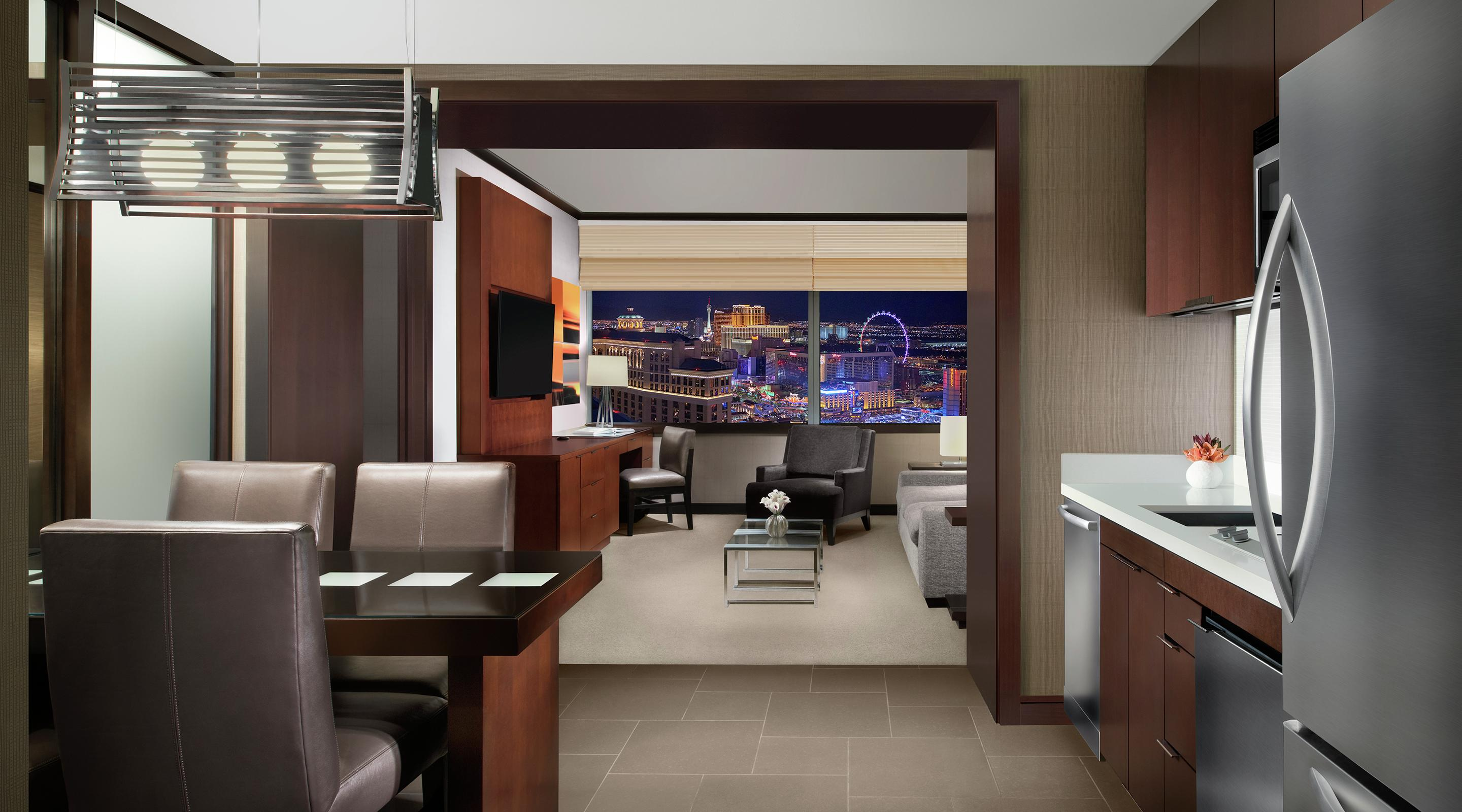 The Vdara Suite offers you a way to escape the hustle and bustle of the busy Las Vegas Strip.