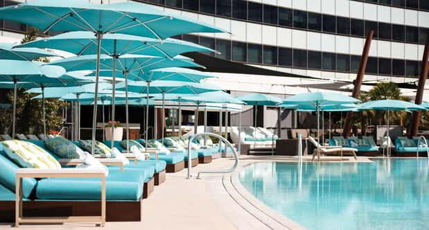 Lounge the day away with a daybed at Pool & Cabanas Vdara.