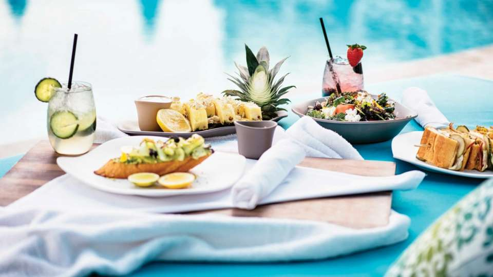 Enjoy poolside food and cocktails at Pool & Cabanas Vdara.